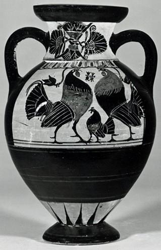 Vaso greco a figure nere vi secolo ac for Vaso attico