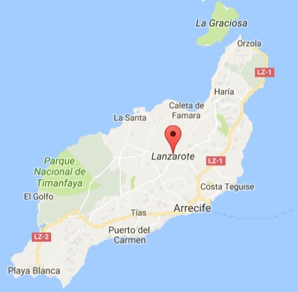 Spagna E Isole Canarie Cartina Geografica.Combattimento Di Galli A Lanzarote
