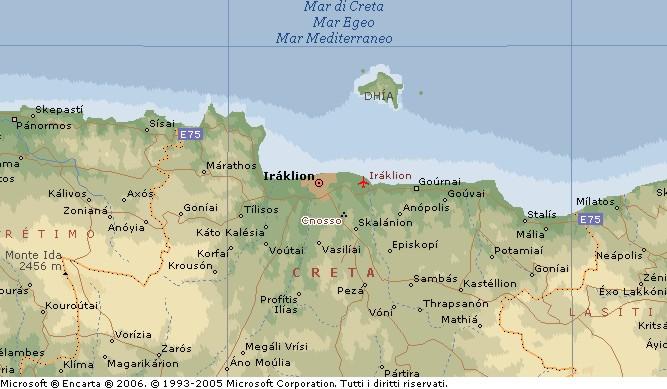 Cartina Geografica Dell Isola Di Creta.Creta Isola Di Candia