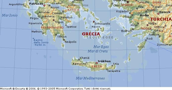 Cartina Geografica Isola Di Creta.Creta Isola Di Candia