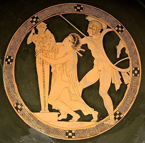 Aiace rapisce Cassandra, 440-430 a.C.,  Museo del Louvre, Parigi