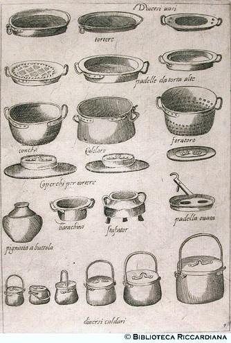 Scappi bartolomeo for Instrumentos de cocina