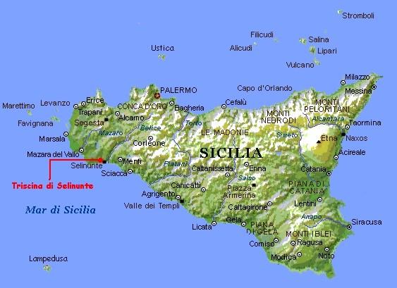 Cartina Sicilia Selinunte.Selinunte
