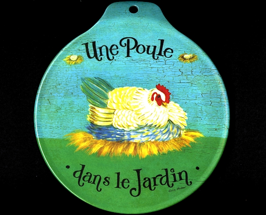 Une poule dans le jardin dono di fabio conti da faenza Poule dans le jardin
